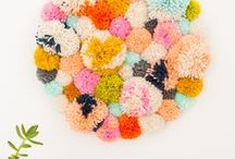 • DIY Bows | Flowers | Pom Poms • / DIY bows - flowers - pom poms