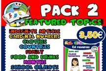 PACK 2 - RESOURCES / RESOURCES AVAILABLE IN PACK 2 - PPT GAMES, WORKSHEETS, FLASHCARDS, DOMINOES, PICTURE DICTIONARIES