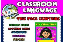 CLASSROOM LANGUAGE - RESOURCES / PACK AVAILABLE HERE: http://eslchallenge.weebly.com/classroom-language.html
