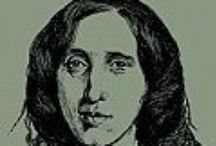 """George Eliot na Biblioteca de Filoloxía da UDC / Do 3 ao 31 de marzo de 2015 desenvólvense diversas exposicións bibliográficas nas bibliotecas da UDC baixo o título """"Mulleres e luz"""", dedicando a Biblioteca de Filoloxía a súa á escritora británica George Eliot (1819-1880)"""