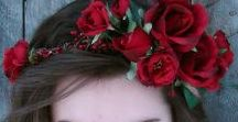 With Flowers In Your Hair.... / Flowers for your hair. Floral crowns and floral headpieces for weddings. Brides, bridemaids and flower girls.