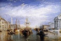 Venice paintings: Turner / Joseph Mallord William Turner, (baptised 14 May 1775 – 19 December 1851) was a British Romantic landscape painter, water-colourist, and printmaker. Turner was considered a controversial figure in his day, but is now regarded as the artist who elevated landscape painting to an eminence rivalling history painting.