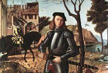 Venetian painter: Carpaccio / Vittore Carpaccio . 1465 – 1525/1526) was an Italian painter of the Venetian school, who studied under Gentile Bellini.