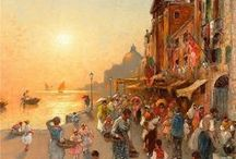 Venice paintings / Paintings of Venice, Italy.