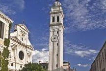 Chiesa di San Giorgio dei Greci / San Giorgio dei Greci is a church in the sestiere of Castello, Venice. It was the center of the Scuola dei Greci, the Confraternity of the Greeks in Venice. Construction was started by Sante Lombardo, and from 1548, by Giannantonio Chiona. The belltower was built in 1592.