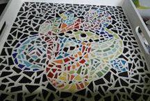 Echantillon de mes créations en mosaïque / Mosaïque fais maison