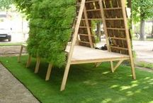 Garden space/ workshed / everything interacting with buildingspace and a garden