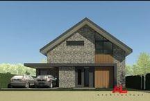 AL architecten | Projecten Nieuwbouw / Projects by AL architectuur | a selection of our private house designs in concept. Wonen | Nieuwbouw | Woningen | Vrijstaand | Houses | Residential | Architecture