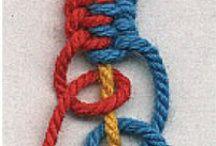 Langat ja narut / Ideoita lanka/narutöihin Ideas for yarns and ropes