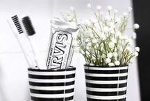 badkamer / badkamer, zwart/wit, tegels, interieur, decoratie