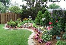 Udvarok, kertek, járdák