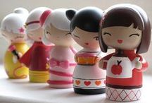 Kimmi and Kokeshi Dolls / #kimmidoll and #kokeshi #doll  #japanese #japan