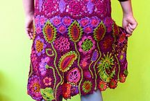 CROCHETED SKIRTS / Sexy and ethereal / by Nancey Mitchell