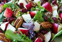 Plant-Based Salads and Bowls / Healthy Plant-Based Salads and Bowls: greens, grains, beans, roots and fruit