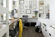 Office Space / There are so many ways to organize your space. Make a board of your favorites things and before you know it, your office will have come to life without making a single purchase!  Here are some great spaces to get you started!