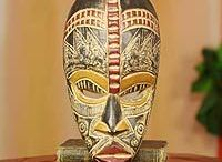 """Masks / Masquerade.Vintage.Tribal.Collectable.Stands.Displays.  """"A mask tells us more than a face.""""  ― Oscar Wilde"""