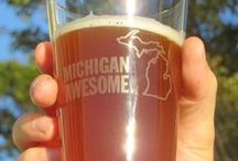 Michigan Awesome Drinkware / Drink with pride! Michigan Awesome has glassware for wine and beer, plus a coffee mug so you can enjoy your favorite beverages while celebrating the awesome state of Michigan!