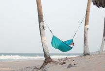 HÄNG | Beach hammocks / No beach is complete without trees to hang your hammock from, when travelling the world-