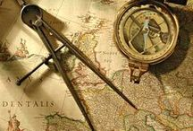 Compasses, Globes and Old Maps