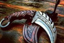 Swords, Blades, Knives and Daggers / As sabres, scythes and sickles and everything sharp and shiny.