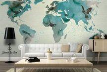W drogę! Dekoracje z mapami dla podróżników / Kochasz podróże? Pokaż to w swoim mieszkaniu!