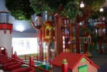 indoor playgroound decorated / indoor playground, playroom, children play area