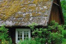 Skansen / Zabytkowa wieś, budynki, ogrody wiejskie, starocie...