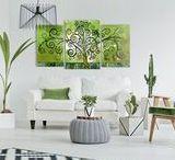 Dom w kolorze Greenery 2017 / Kolor roku 2017 - zieleń Greenery - wzbudza sporo kontrowersji i ma tylu zwolenników, co przeciwników. Ale jeśli podoba Ci się ostra zieleń, na pewno pokochasz te pomysły na wiosenne dekoracje ścian!