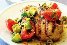 chicken + fish / inspiration for my weekly meal plans using chicken and fish