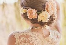 brides + bridesmaids + the boys / inspiration and design ideas for hair, makeup and the dress