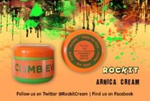 RocKit Arnica Beeswax Cream / Psyched for Sports? We are... That's why we came up with RocKit Arnica Cream. Your natural solution to muscles/joints pain relief & skin healing!