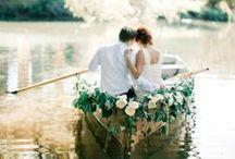 lodge and lake vintage wedding