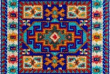Handmade / Nativ American,flora, embroidery, cross-stitch