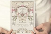 Pink and Celadon Vintage Wedding / Vintage wedding and art deco wedding inspiration