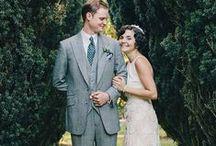rose quartz and soft blue vintage wedding