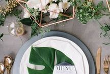 WEDDING DEKORATION INSPIRATION / #diywedding #DIY #wedding #inspiration #minimalism #clean #contrast