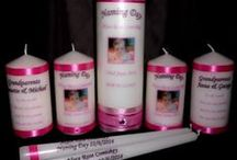 Personalized Candles / Personalized candles for all occasions, weddings, naming ceremonies and more.