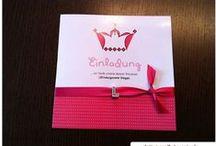 Einladungskarten / Ideensammlung, Bastelanleitungen, Einladungskarten zum Geburtstag, Taufe, Party, Hochzeit