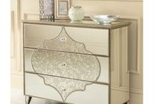Sassari Mirrored Collection / Frosted Glass - Venetian Mirrored Furniture