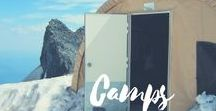 Travel & Adventure / Camping | Glamping | Outdoors | Yurt | Snow Sports | Fishing | Hunting | Travel | Exploration | Adventure Ideas | Wanderlust | Sports | Golfing | Adventure Camps | Glacier Tours