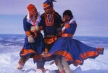 Fake Saami clothing / Fake Saami costumes used in tourism industry and advertising in Finland