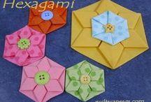 Patchwork origami/folded/yo-yos