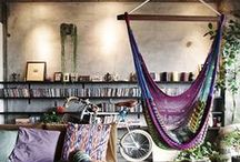 Hippie Home / There's no such thing as too much imagination or paisley.