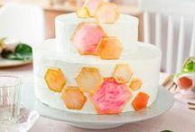Geometrische Hochzeitstorte - { wedding cake }