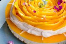 Mango-Rosen-Torte