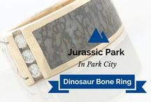 Jurassic & Dinosaur Inspired Jewelry / Real Dinosaur Bone is used in Park City Jeweler's Dinosaur inspired jewelry!  The bone actually has real dinosaur DNA too!