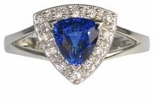 Sapphire Jewelry / Beautiful and unique sapphire pieces in a variety of colors