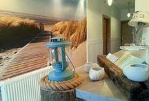 Morska recepcja / Recepcja Domu nad Morzem inspirowana miejscową plażą