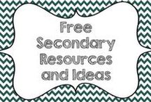 Free Secondary Resources and Ideas / This board is dedicated to middle and high school educational ideas and free resources for all subjects.  Updated guidelines for collaborators: Pins for blog posts, educational ideas, and free resources welcome.