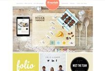 Colorful Designs / Feel inspired by these colorful website designs and color palettes.